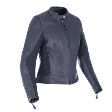Oxford Beckley Womens Ladies Leather Motorcycle Motorbike Jacket Black UK12
